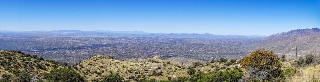 The view from Agua Caliente Summit. March 2018
