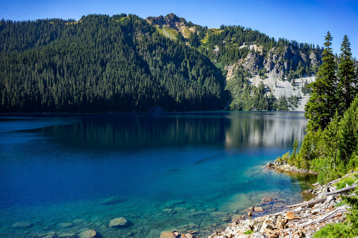 Although it is overshadowed by Jade, Marmot Lake is beautiful in its own right